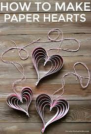 Paper Decoration For Valentine Day valentine u0027s craft how to make paper hearts hoosier homemade