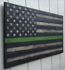 Flag Description The Og Thin Green Line Bench Create And Pallets