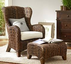 Pottery Barn Rocking Chair Seagrass Wingback Armchair Pottery Barn