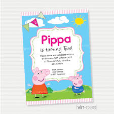 birthday invites exciting peppa pig birthday invitations ideas