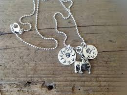 adorabull english bulldog personalized necklace in memory dog