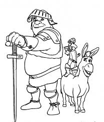 team shrek puss donkey coloring pages 518