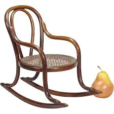Bent Wood Rocking Chair Layaway Antique Miniature Bentwood Rocker Doll Furniture Toy