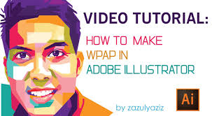 Video Tutorial Wpap | tutorial video how to make wpap in adobe illustrator youtube