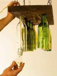 Chandelier Wine Glass How To Make A Chandelier From Old Wine Bottles How Tos Diy