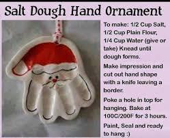 salt dough ornament december salt dough