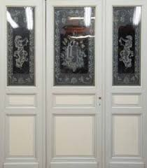 etched glass doors antique french art deco etched glass doors original set by thegatz