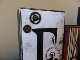 Decorative Letter Blocks For Home Family Wood Blocks For Your Mantel Clocks And Gears Family Is