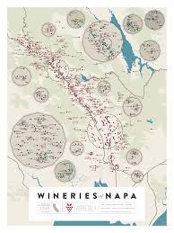 Napa Valley Winery Map Amazon Com Pop Chart Lab