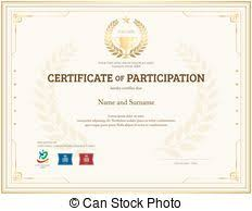 clip art of blank certificate of participation csp35126229