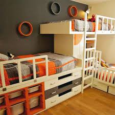 three bunk beds triple bunk beds and l shaped bunk beds for adults room interior
