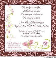 latest trend of wording for bridal shower invitations for gift