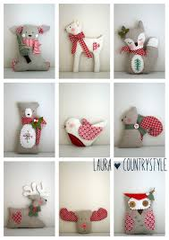 country style christmas is coming pdf pattern xmas tree ornaments