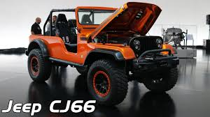 jeep icon concept 2016 sema jeep cj66 interior and exterior design youtube