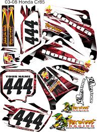 motocross helmet wraps mx decals honda 85 red wrap motocross graphics