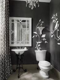 Black And White Powder Room 10 Ways To Decorate With Charcoal Hgtv