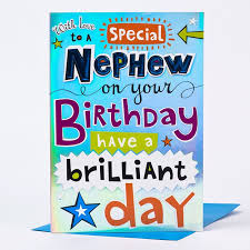 birthday cards for nephew birthday card special nephew bold design only 99