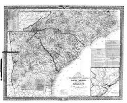 State Map Of South Carolina by Hargrett Library Rare Map Collection Frontier To New South