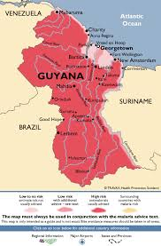 guyana on world map guyana malaria map fit for travel