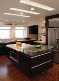 Kitchen Cabinet Lighting Led by Kitchen Lighting Ideas Replace Fluorescent Rectangular White Sinks