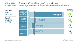 a government shutdown could send investors for a ride history shows
