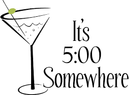 retro martini it u0027s 5 00 somewhere vinyl decal vinyl lettering wall words