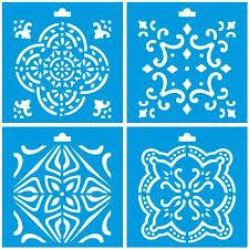 set of 4 4 x 4 10cm x 10cm reusable plastic stencil