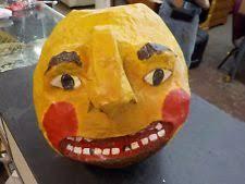 Paper Mache Pumpkin Vintage Paper Mache Jack O Lantern Ebay