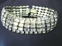 silver rhinestone bracelet images Spectacular vintage 1950 39 s weiss rhinestone bracelet sold ruby lane jpg