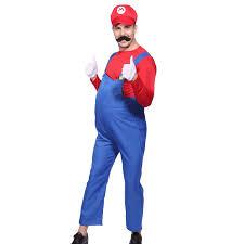 mario brothers halloween costumes mens boys super mario luigi brother plumber cosplay