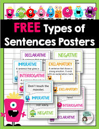free posters to teach and demonstrate the different types of