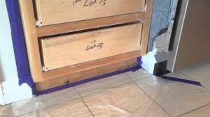 Painted Kitchen Cabinets by How To Paint Kitchen Cabinets Step 6 Taping U0026 Setup Youtube