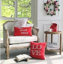 canapé romantique amour brodé oreillers pour canapé coeur romantique coussins de