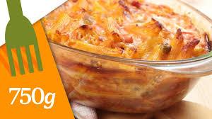 comment cuisiner des pates gratin de pâtes au jambon 750 grammes