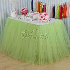 green tulle light green tulle tutu table skirt custom tulle table