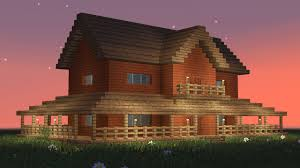 big farmhouse minecraft how to build big wooden house 5