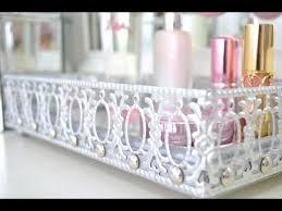 Makeup Vanity Tray Diy Mirrored Vanity Tray Youtube