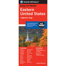 Map Of South United States by Rand Mcnally Folded Map Eastern United States