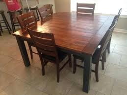 square dining table 60 diy 60 inch square farmhouse table diy home projects pinterest