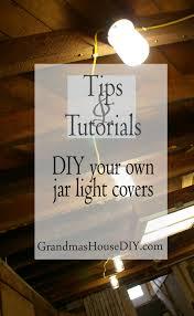 jar light bulb covers for our basement grandmas house diy