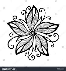 beautiful decorative flower vector patterned design stock vector