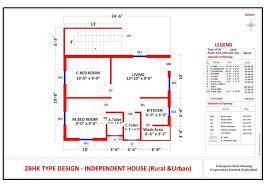 2 Bedroom House Plans Vastu 25 More 2 Bedroom 3d Floor Plans Bhk House Plan As Per Vastu Big