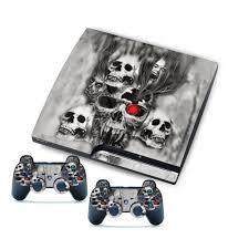 ps3 design ps3 slim console 2 controller vinyl stickers skull design
