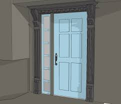 House Of Corbels New Entry Door Trim Using Old Corbels Protradecraft