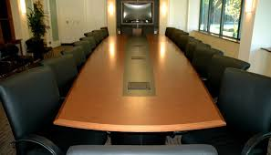 Boat Shaped Meeting Table Italian Yew Veneer Boardroom Table For Marin Conference Room