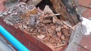 Remove Brick Fireplace by Brick Chimney Removal Youtube