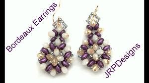 beginner earrings bordeaux earrings beginner to intermediate beading tutorial