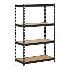 Metal Shelves For Storage Edsal 60 In H X 36 In W X 18 In D 4 Shelf Steel Shelving Unit