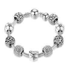 flower charm bracelet images Love and flower charm bracelet shopping promos jpg
