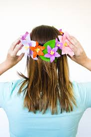 Make Your Own Paper Flowers - diy paper flower crowns make your own crown papercraft bespoke